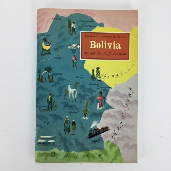 American Geographic Society 1959 Booklet Bolivia